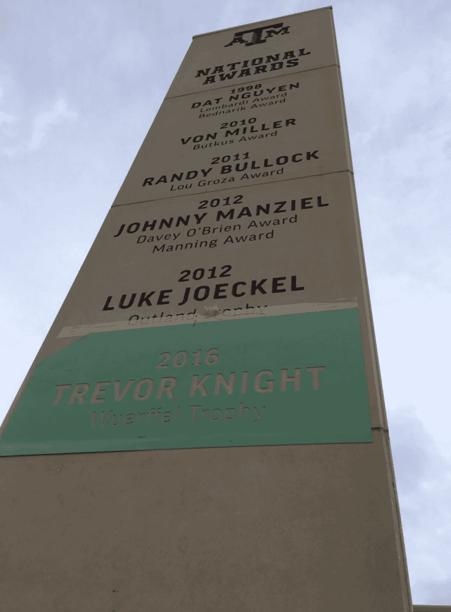 Trevor Knight Honored Outside Kyle Field